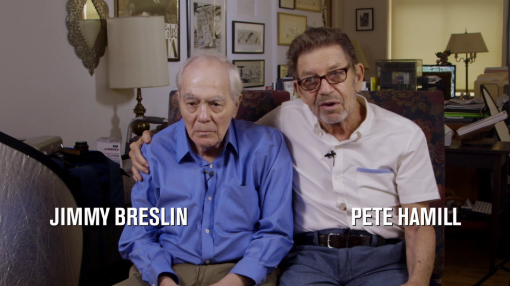 Breslin and Hamill: Deadline Artists (2018) tells the story of newspaper journalism in New York City right from the 60s to present times by exploring the lives of Jimmy Breslin and Pete Hamill and the stories they covered. (Twitter)
