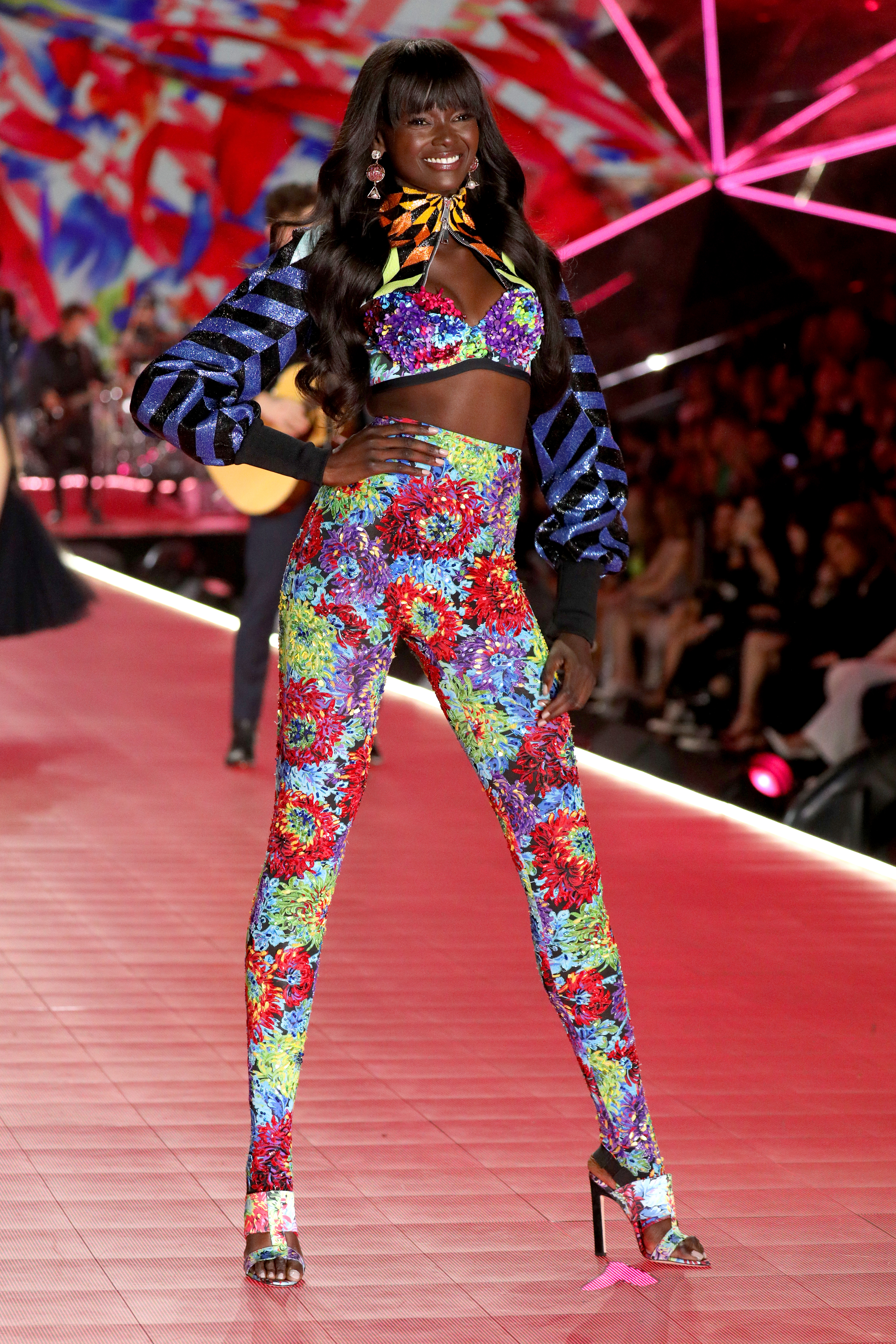 Duckie Thot walks the runway wearing Swarovski in the 2018 Victoria's Secret Fashion Show at Pier 94 on November 8, 2018, in New York City. (Getty Images)