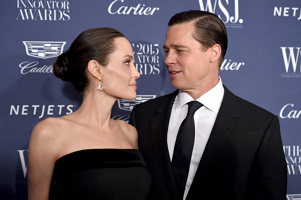 Brad and Angelina never meet during the visits. (Getty Images)