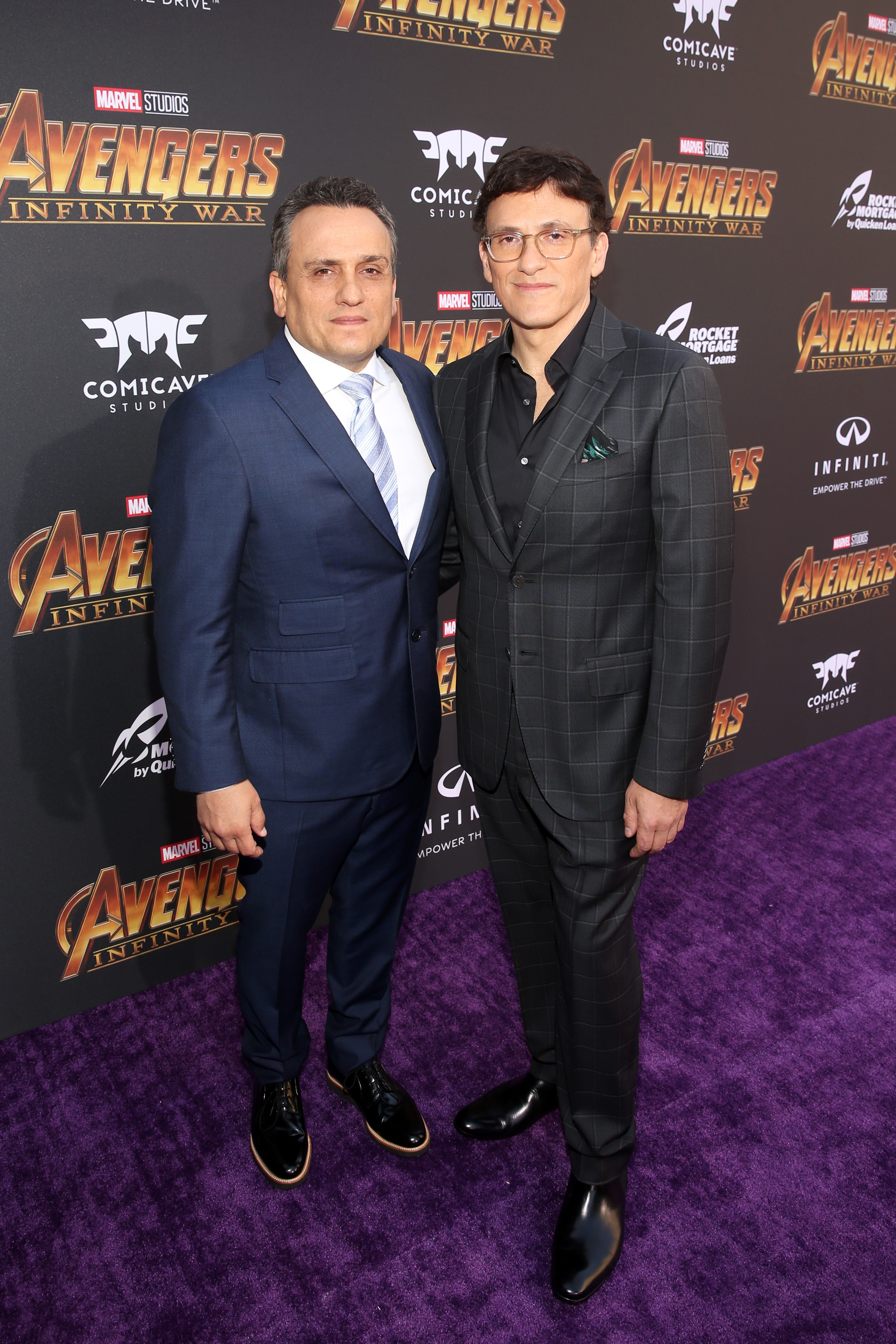Directors Joe Russo (L) and Anthony Russo attend the Los Angeles Global Premiere for Marvel Studios' Avengers: Infinity War on April 23, 2018 in Hollywood, California. (Getty)