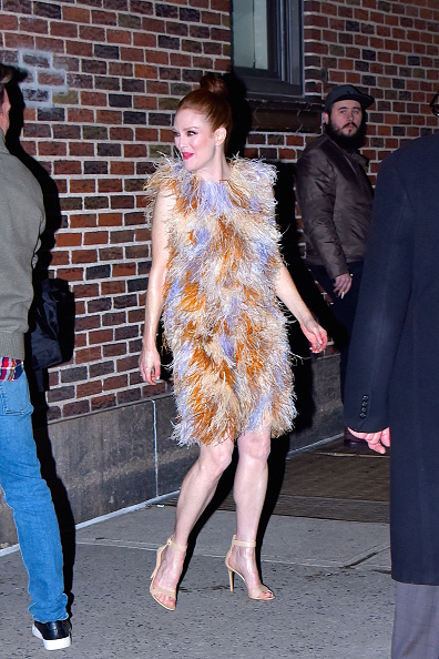 Julianne Moore seen out and about in Manhattan on March 4, 2019 in New York City. (Photo by Robert Kamau/GC Images)