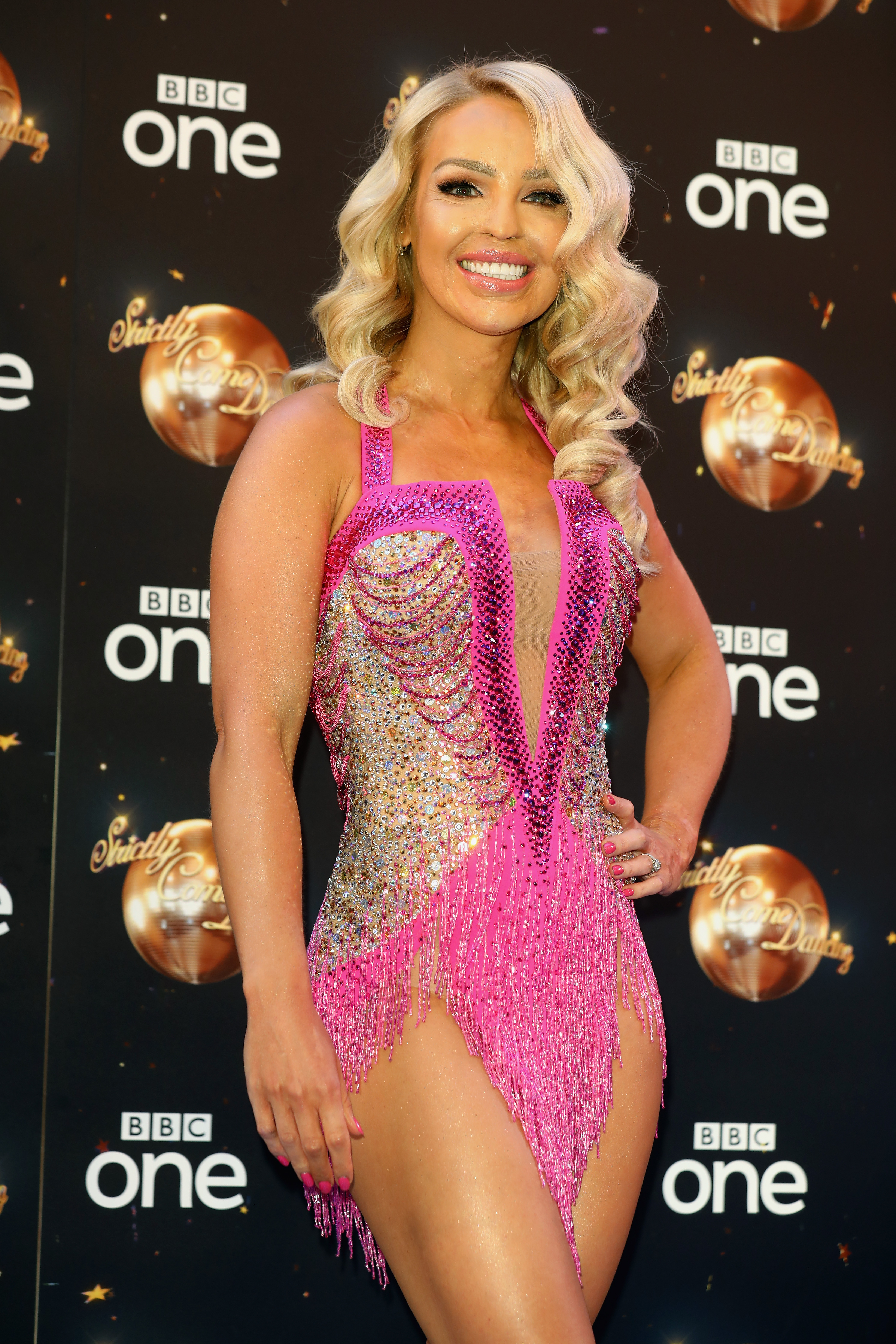 Katie Piper attends the red carpet launch for 'Strictly Come Dancing 2018' at Old Broadcasting House on August 27, 2018, in London, England. (Getty)