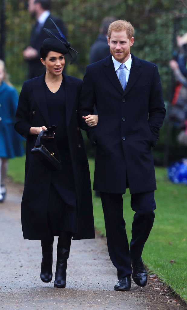 Meghan has had an incredible year, what with her wedding to Prince Harry in May and a few months later, the royal announcement that the couple is expecting their first child in spring next year. (Source: Getty Images)