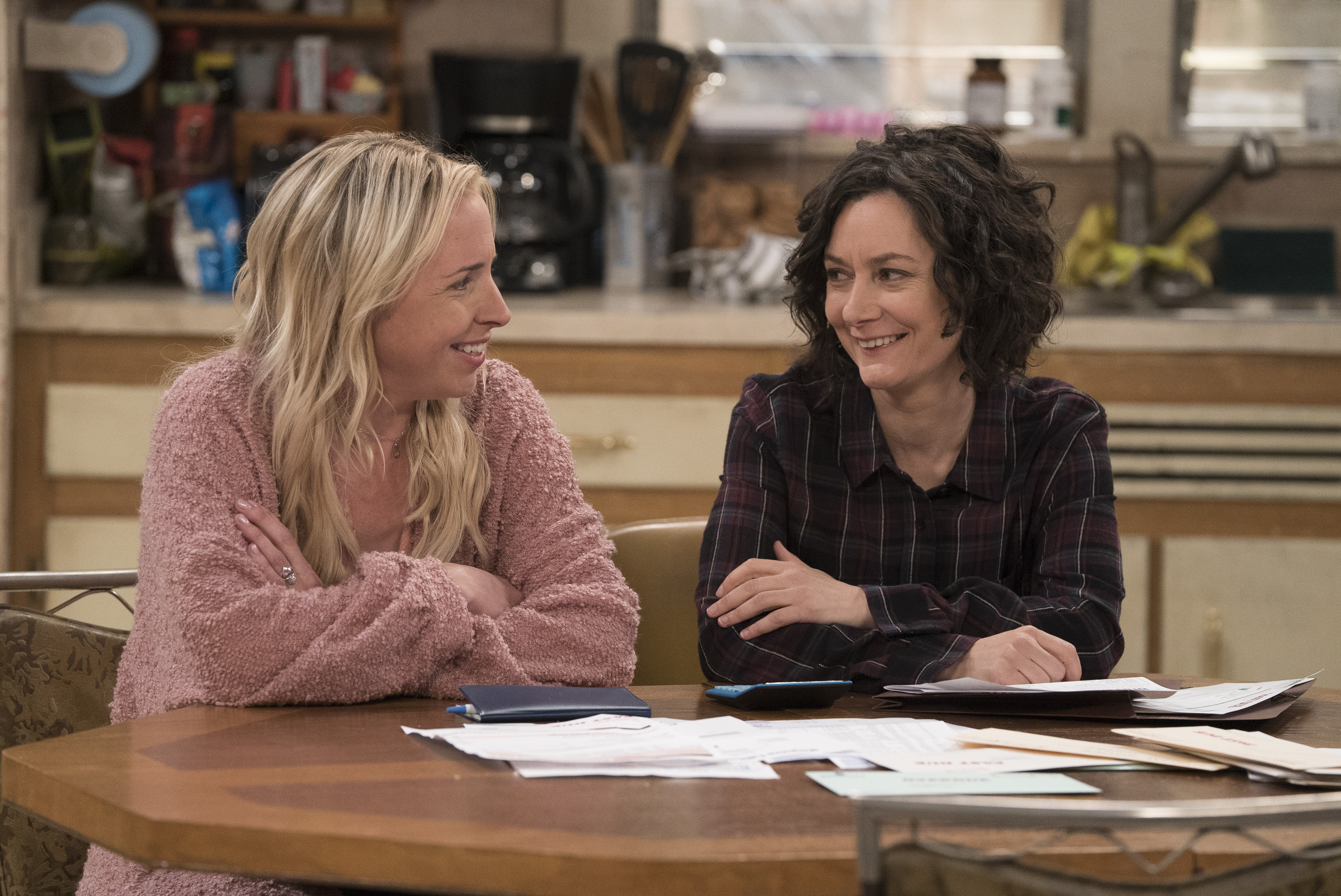 Lecy Goranson and Sara Gilbert in 'The Conners'. (Photo Credit: American Broadcasting Companies, Inc)