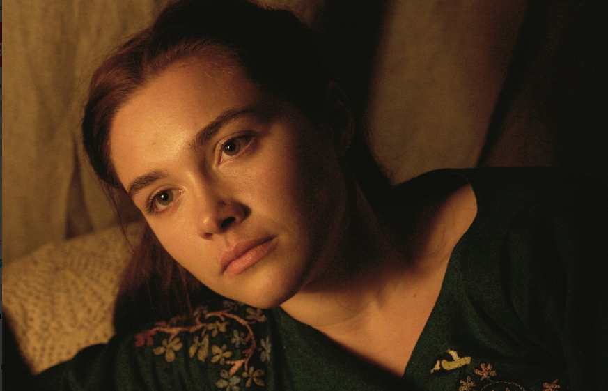 Florence Pugh as Elizabeth in Outlaw King. Source: Netflix.