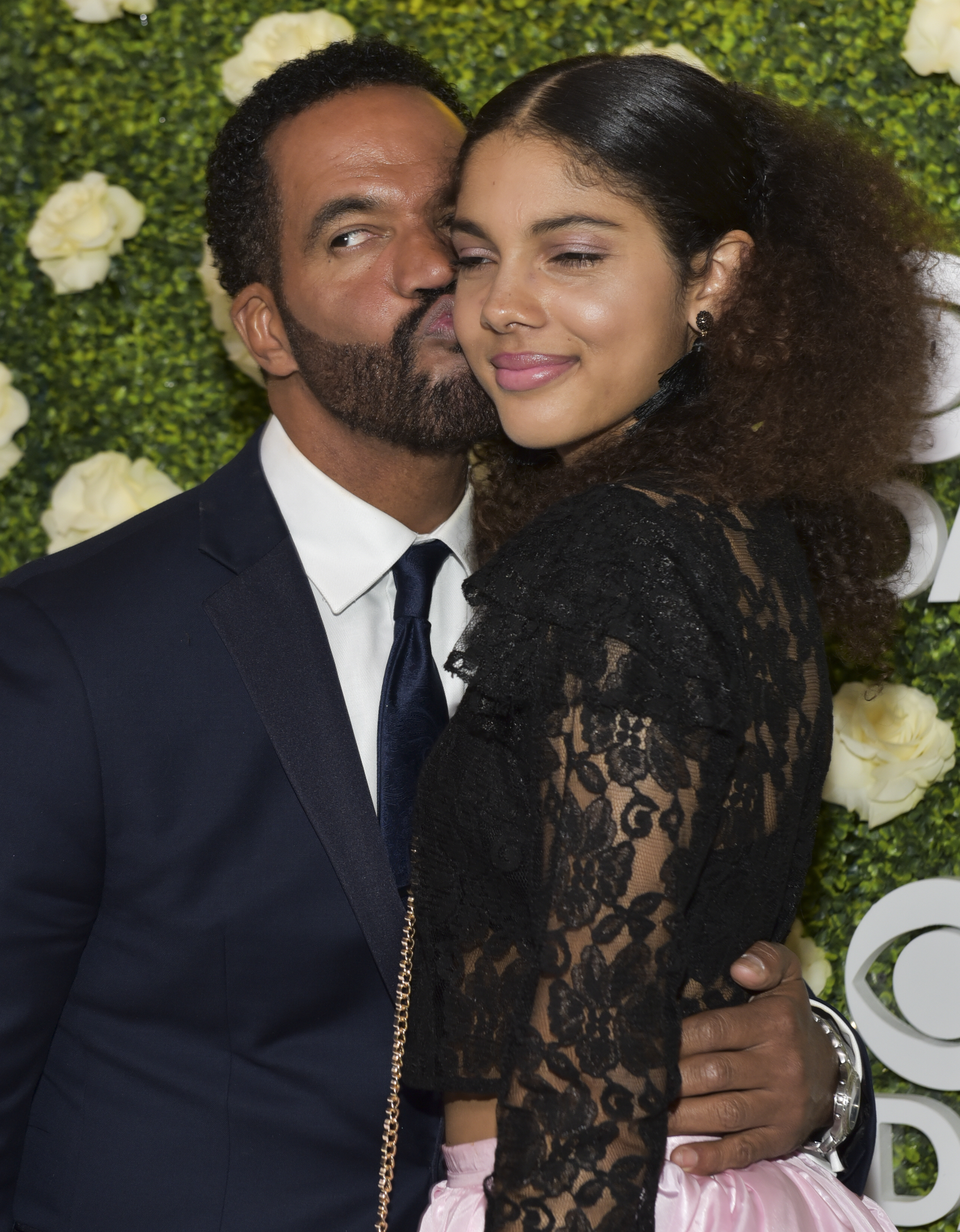 Actor Kristoff St. John (L) and daughter Paris St. John attend the CBS Daytime Emmy After Party at Pasadena Convention Center on April 29, 2018, in Pasadena, California. (Getty)