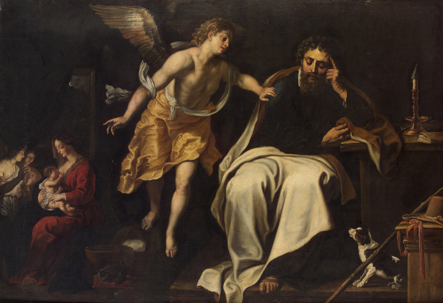 Dream of St Joseph, c. 1625-1630, by Gerard Seghers (Wikimedia)