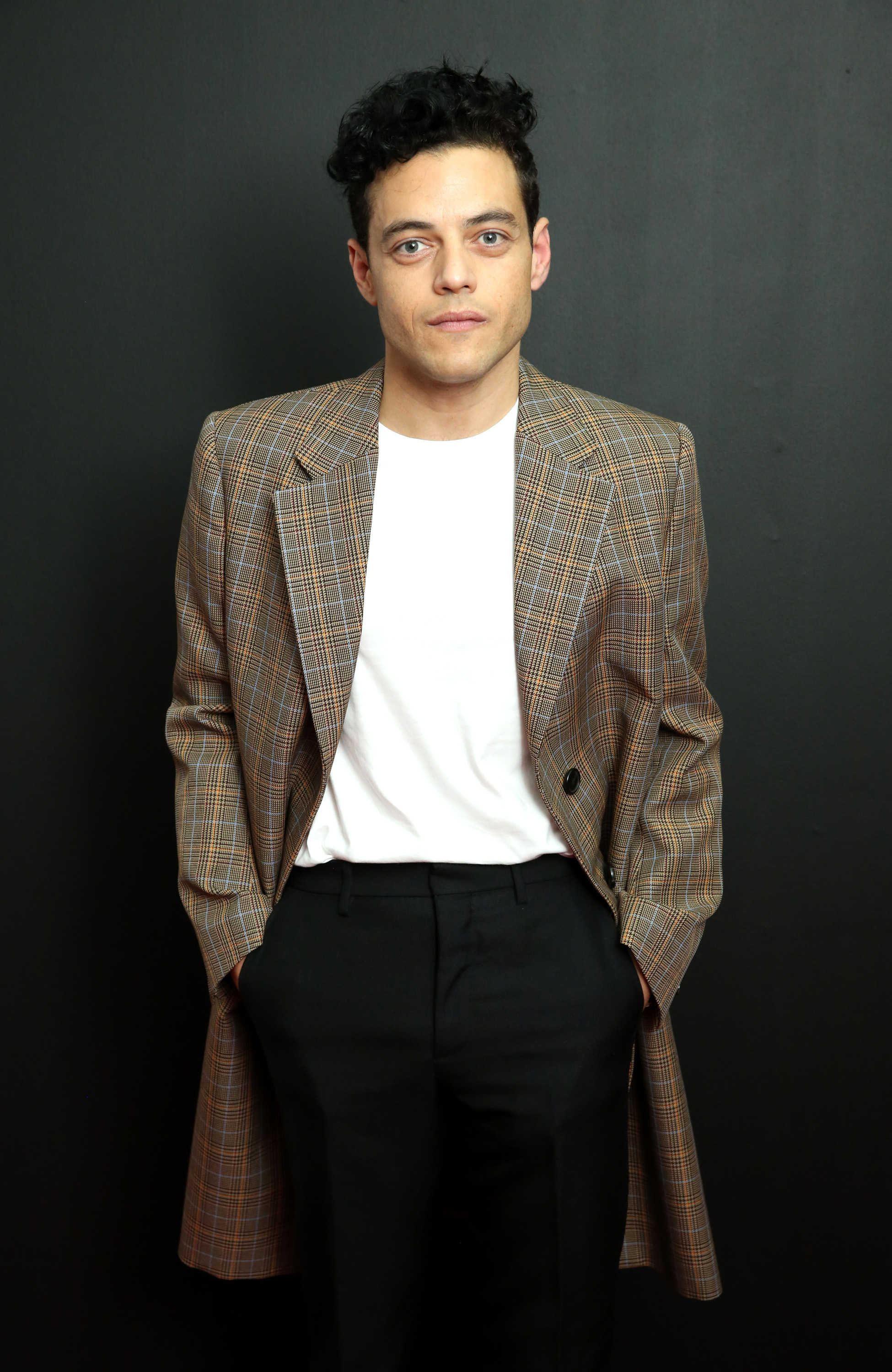 Actor Rami Malek attends the Calvin Klein Collection fashion show at the New York Stock Exchange on September 11, 2018, in New York City. (Getty)