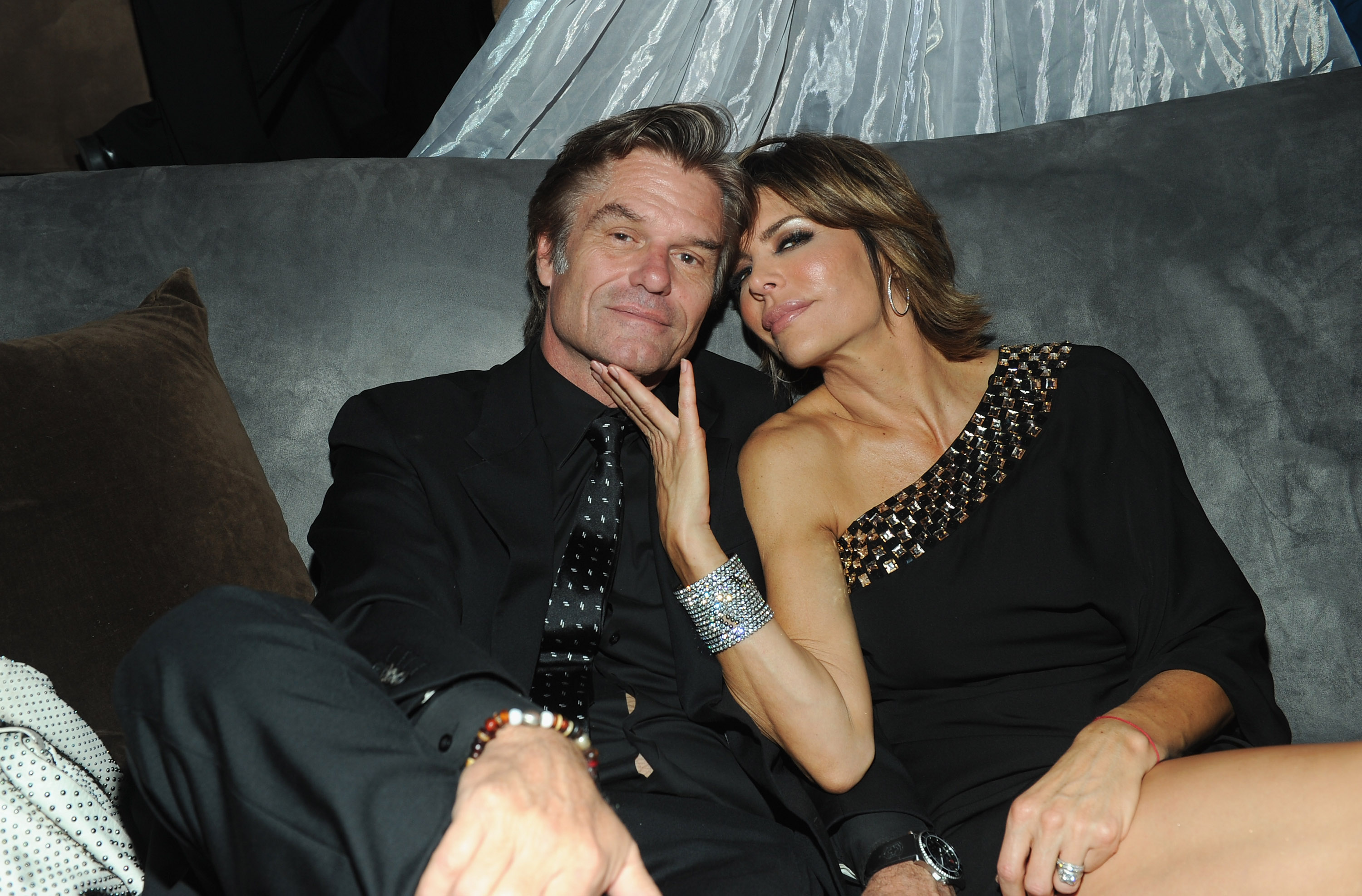 Actor Harry Hamlin and actress Lisa Rinna attend ABC's 'Dancing With The Stars' 200th episode party on November 1, 2010, in Los Angeles, California. (Getty Images)