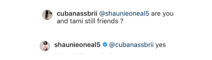 Shaunie O'Neal on being friends with Tami Roman.