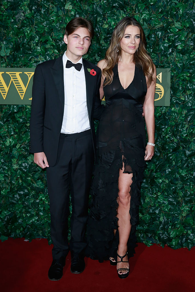 Damian Hurley and Elizabeth Hurley attend The London Evening Standard Theatre Awards at The Old Vic Theatre on November 13, 2016 in London, England. (Photo by John Phillips/Getty Images)