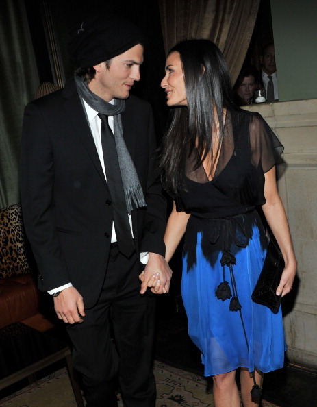 Demi Moore succumbed to addiction in the wake of her split with Ashton Kutcher. (Getty Images)