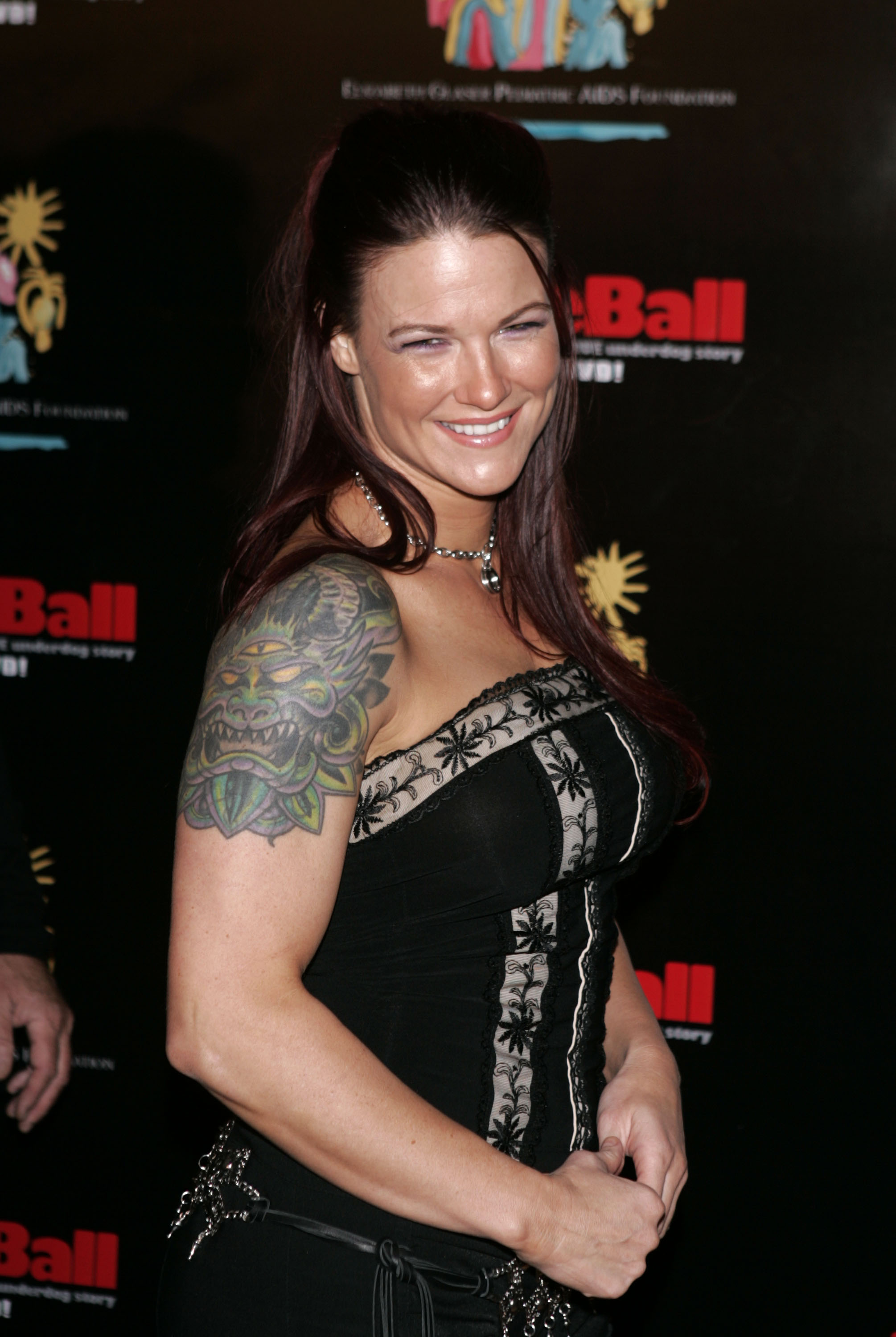 Professional wrestler Lita, born Amy Dumas, attends Dodgeball: The Celebrity Tournament to benefit the Elizabeth Glaser Pediatric Aids Foundation and celebrate the DVD Release of 'Dodgeball: A True Underdog Story' at the Hollywood Palladium December 7, 2004 in Hollywood, California. (Getty Images)