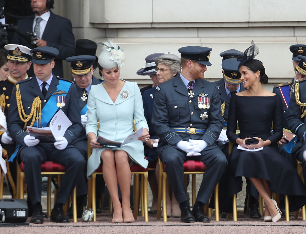The 'Fab Four' during the RAF 100 ceremony at Buckingham Palace, as members of the Royal Family attend events to mark the centenary of the RAF on July 10 (Source: Getty Images)