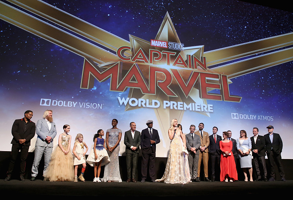 The cast and crew of 'Captain Marvel' attend the Los Angeles World Premiere of Marvel Studios of the movie at Dolby Theatre on March 4, 2019, in Hollywood, California (Source: Getty Images)