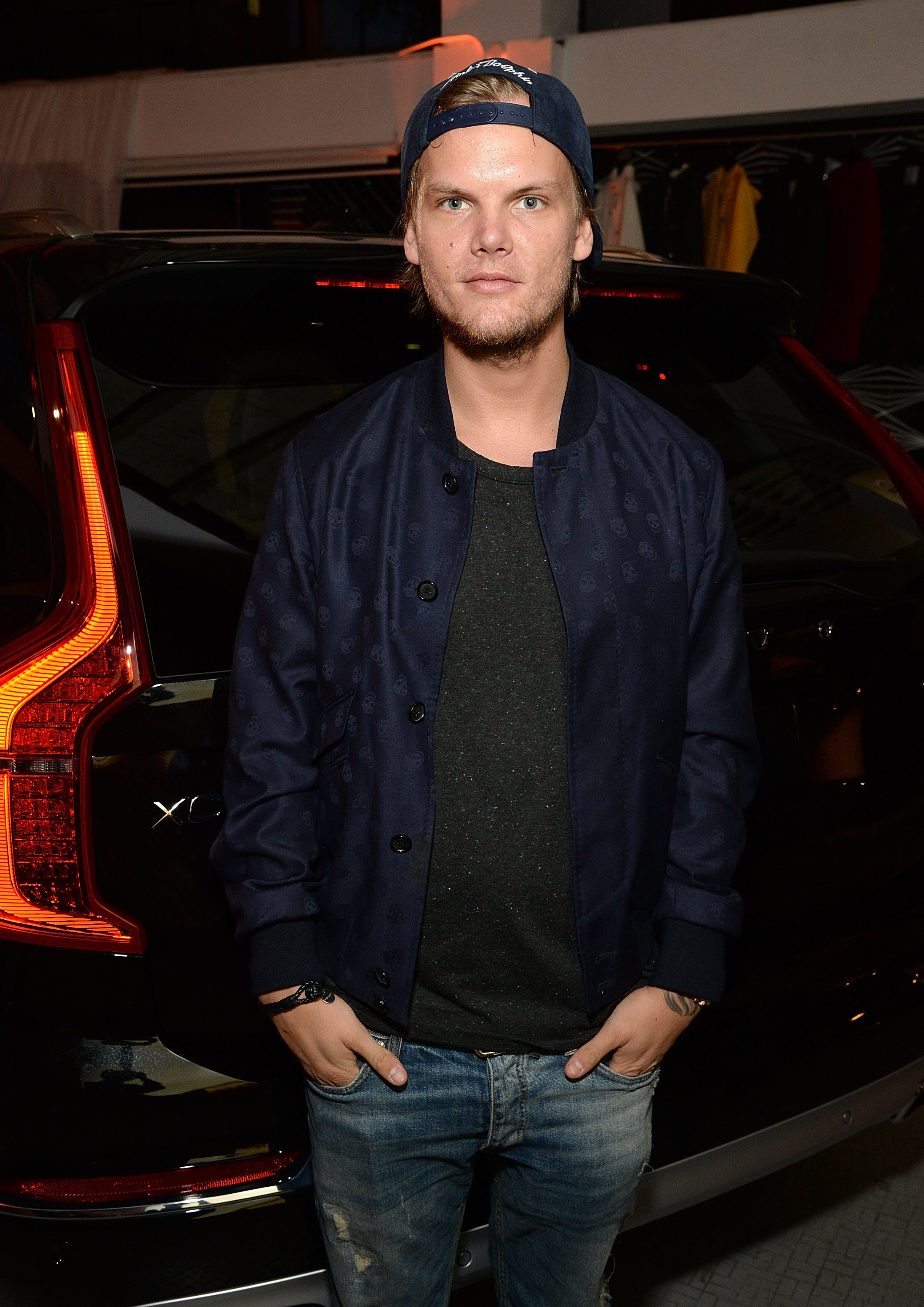 Avicii attends Volvo Cars and Avicii Feeling Good About The Future on May 7, 2015 in Los Angeles, California.