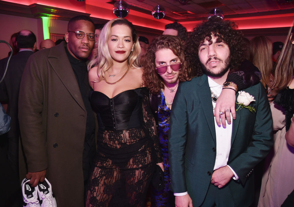 Rita Ora, Andrew Watt and Benny Blanco attend the 60th Annual Grammy Awards after party hosted by Benny Blanco and Diplo with SVEDKA Vodka and Interscope Records on January 29, 2018 in New York City. (Photo by Bryan Bedder/Getty Images for SVEDKA Vodka)
