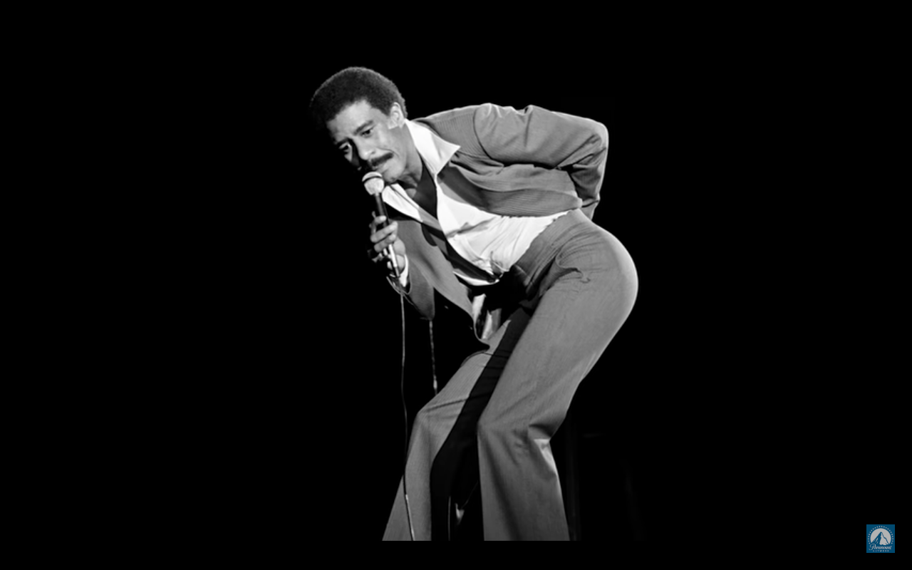 "Richard Pryor seen famously saying ""Kiss my rich black a**"" during a stand-up performance. (I am Richard Pryor)"