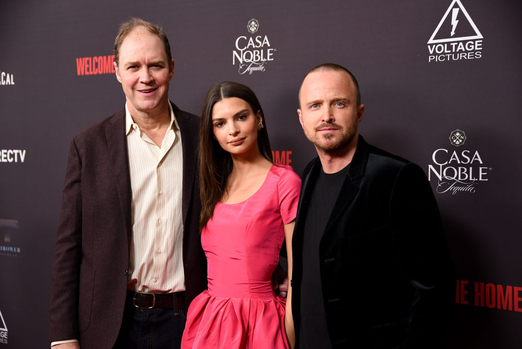 George Ratliff, Emily Ratajkowski and Aaron Paul attend 'Welcome Home' Premiere at The London West Hollywood on November 04, 2018 in West Hollywood, California. (Photo by Presley Ann/Getty Images)