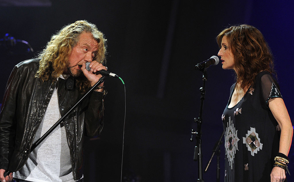 Robert Plant and Patty Griffin & The Band of Joy perform during the 10th Americana Music Association honors and awards at the Ryman Auditorium on October 13, 2011, in Nashville, Tennessee. (Photo by Rick Diamond/Getty Images)