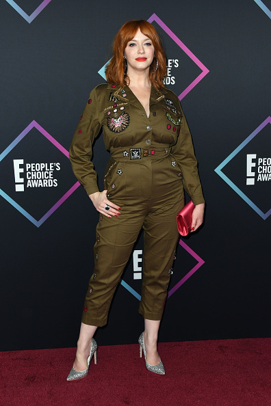 When you look at this military-inspired jumpsuit and the mismatched silver pumps and a lost looking pink clutch, you only ask yourself one question - why, Christina? (Photo by Matt Winkelmeyer/Getty Images)