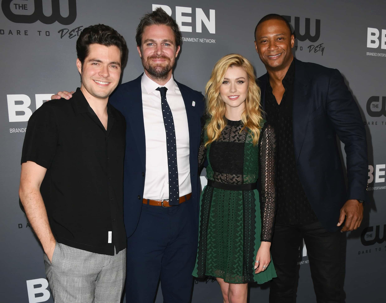 Arrow Star Katherine Mcnamara S New Boyfriend Is A Real Dummy Says Shadowhunters Co Star Isaiah Mustafa Meaww