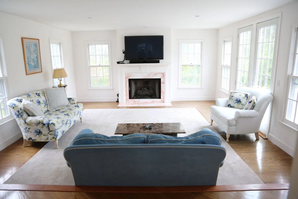 The home has massive, comfortable rooms. (Nantucket Real Estate)