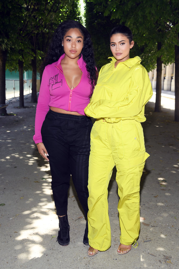 Jordyn Woods and Kylie Jenner attend the Louis Vuitton Menswear Spring/Summer 2019 show as part of Paris Fashion Week on June 21, 2018 in Paris, France. (Photo by Pascal Le Segretain/Getty Images)