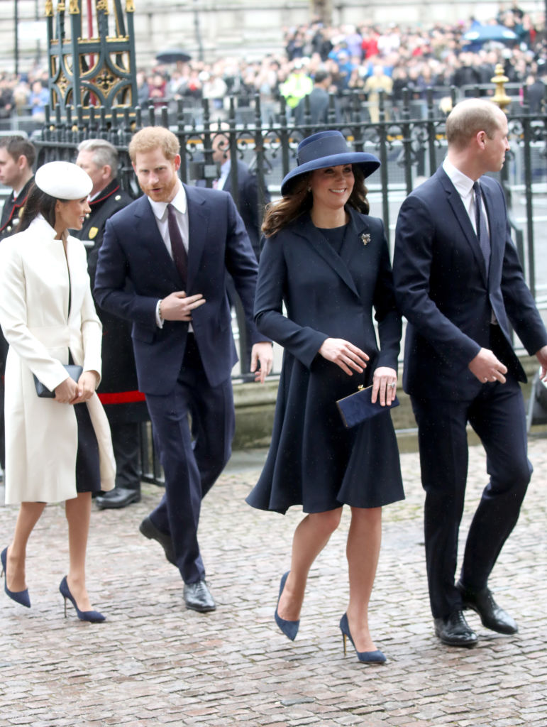 And while there are rumors of a rift between the 'Fab Four' of the Royal Family, i.e. Prince William, Kate Middleton, Prince Harry, and Meghan Markle, royal fans are trying to guess their way into knowing who is the Queen's favorite. (Source: Getty Images)