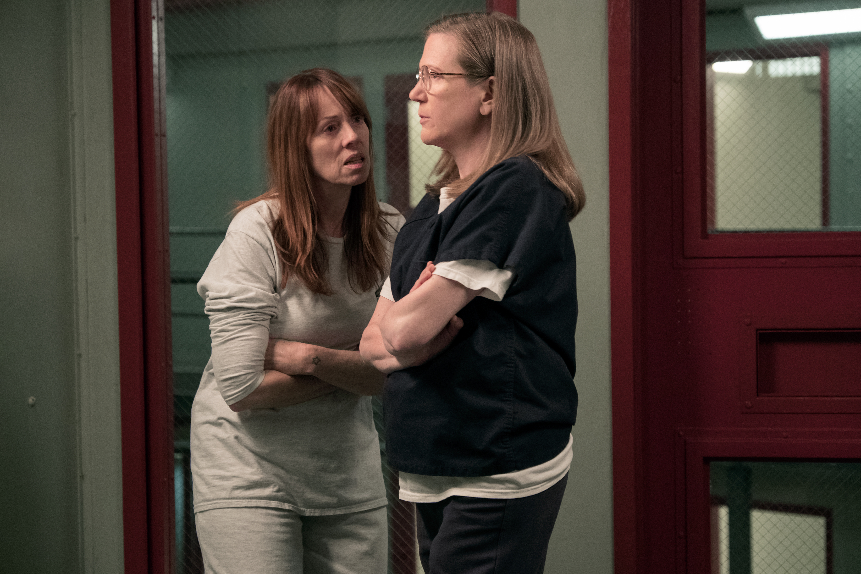 Mackenzie Philips (left) and Henny Russell on 'Orange Is the New Black'Source: Netflix