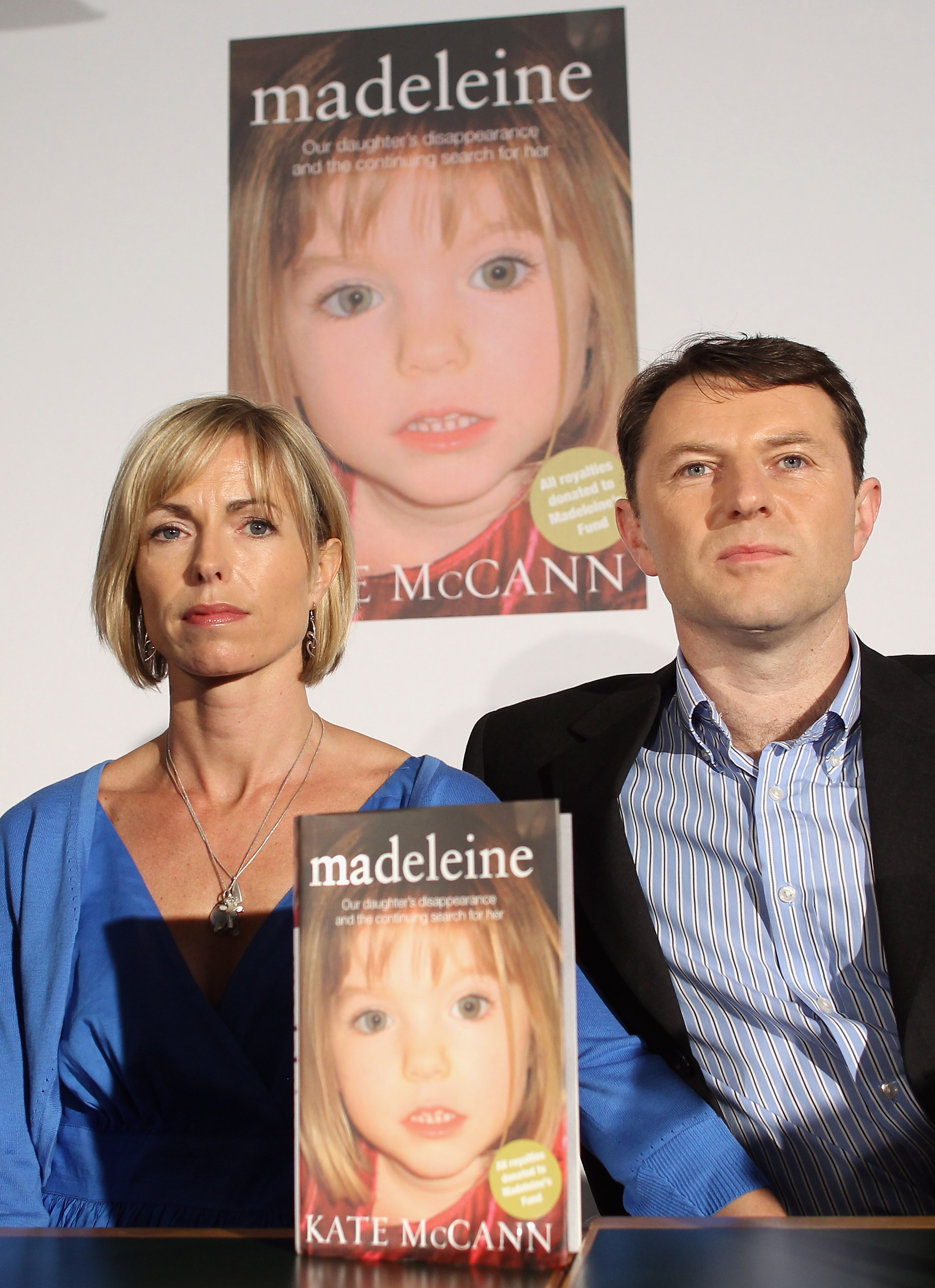 Kate McCann and Gerry McCann launch Kate McCann's new book' 'Madeleine' and answer questions from the press at the Queen Elizabeth II centre on May 12, 2011 in London, England. The book, written by Kate McCann, is a personal account of the disappearance of Madeleine and is hoped to kickstart the investigation into their missing daughter. Three year old Madeleine McCann went missing while on holiday with her parents in the Algarve region of Portugal in May 2007.