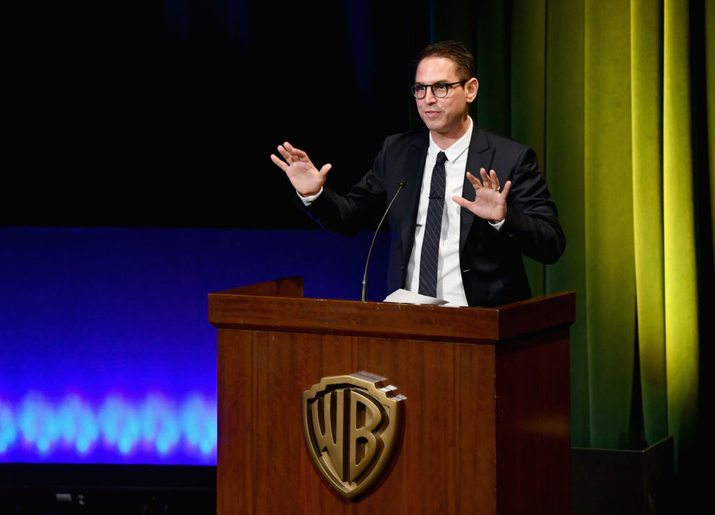 Chairman/Board Member, FCancer, Greg Berlanti speaks onstage at the Barbara Berlanti Heroes Gala Benefitting FCancer at Warner Bros. Studios on October 13, 2018 in Burbank, California. (Photo by Emma McIntyre/Getty Images for FCancer)
