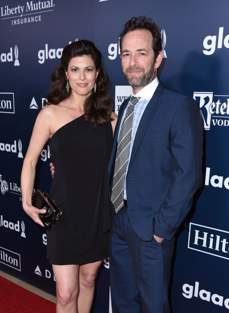 Actor Luke Perry and Wendy Madison Bauer attend the 28th Annual GLAAD Media Awards in LA at The Beverly Hilton Hotel on April 1, 2017 in Beverly Hills, California. (Photo by Vivien Killilea/Getty Images for GLAAD)