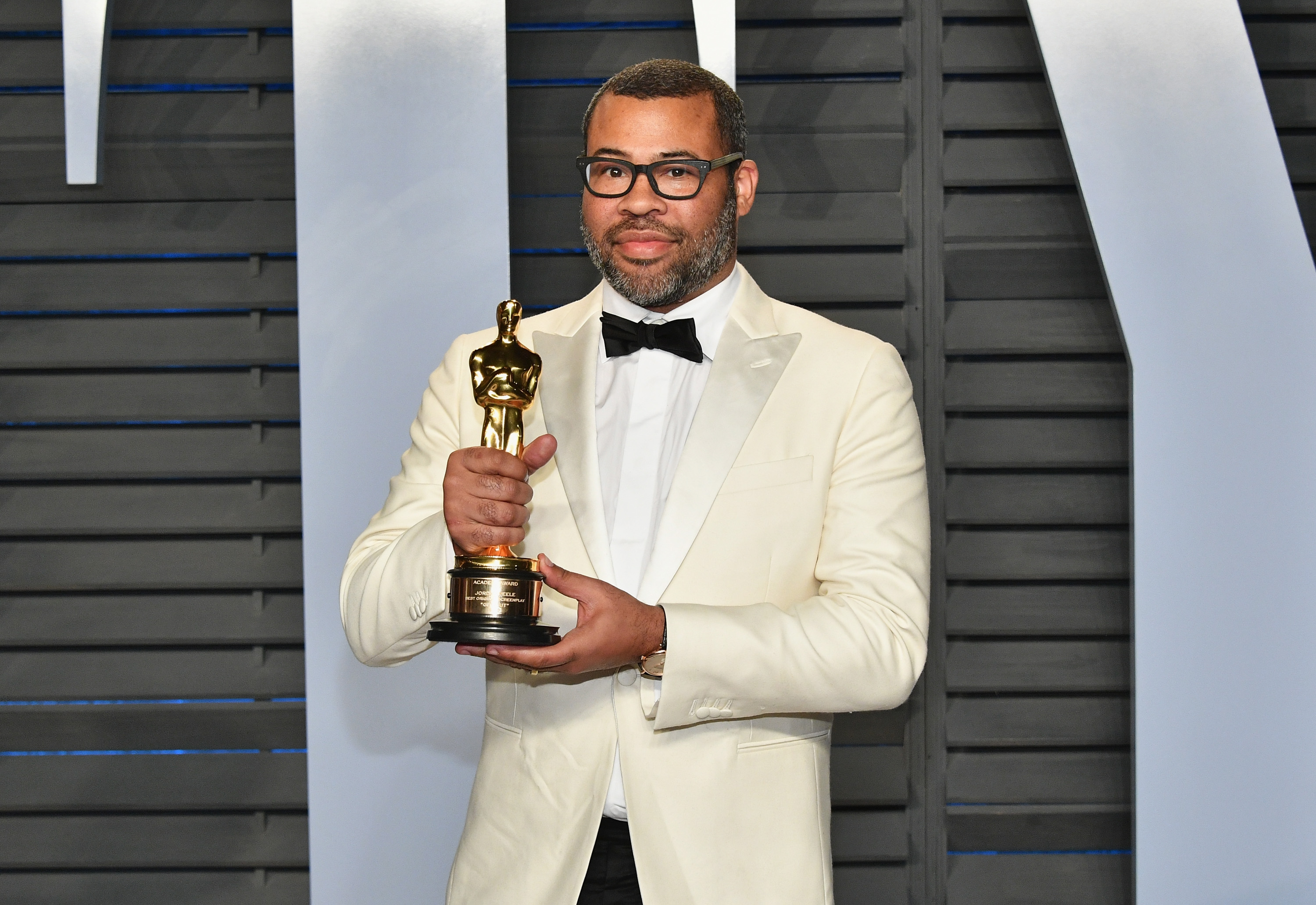 Jordan Peele attends the 2018 Vanity Fair Oscar Party hosted by Radhika Jones at Wallis Annenberg Center for the Performing Arts on March 4, 2018 in Beverly Hills, California. (Source: Getty Images)