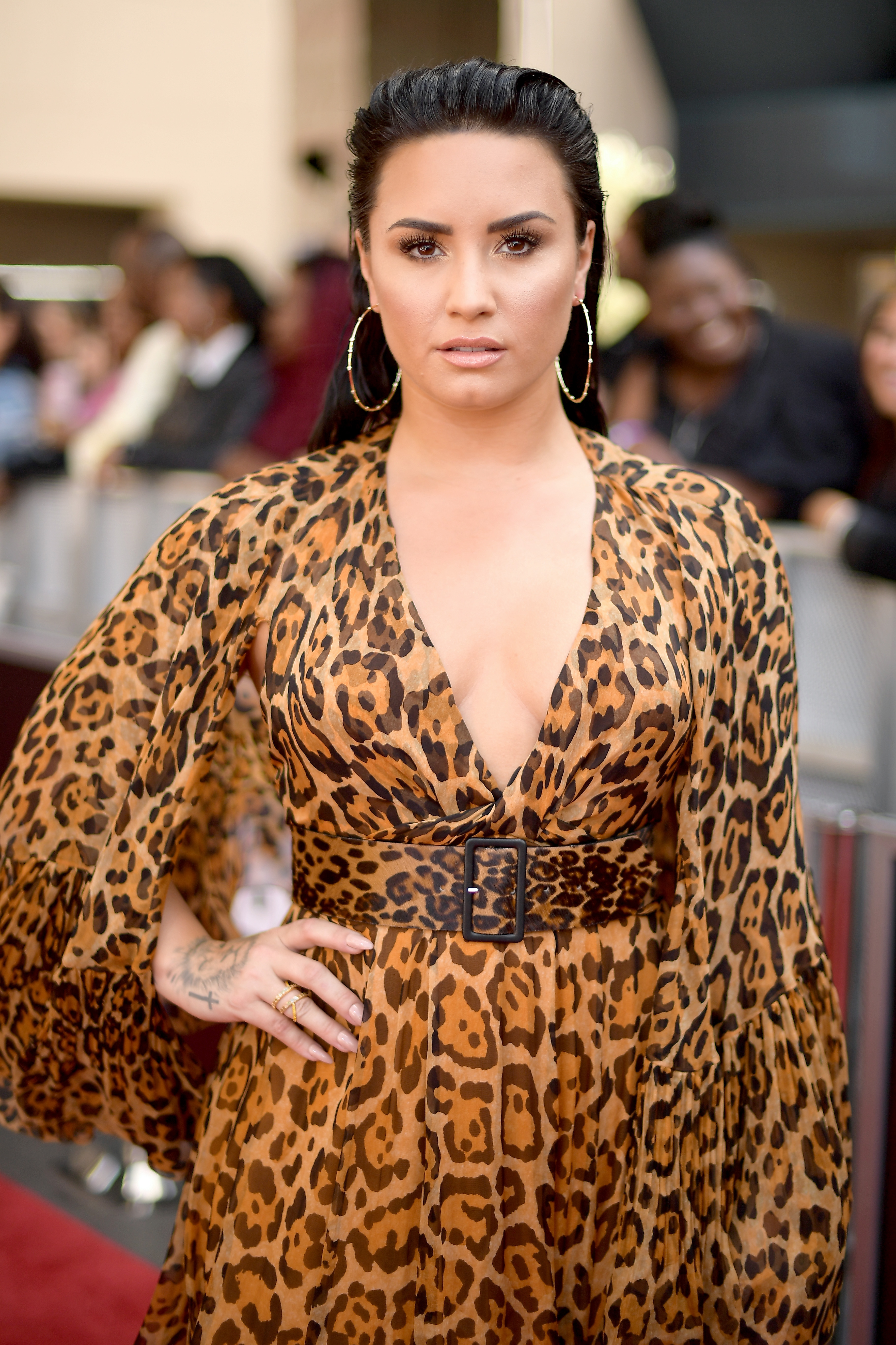 Recording artiste Demi Lovato attends the 2018 Billboard Music Awards in Las Vegas. (Getty Images)