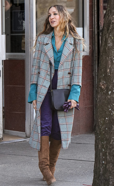 Sarah Jessica Parker is seen on the set of 'Divorce' on March 06, 2019, in New York City. (Photo by Jose Perez/Bauer-Griffin/GC Images)