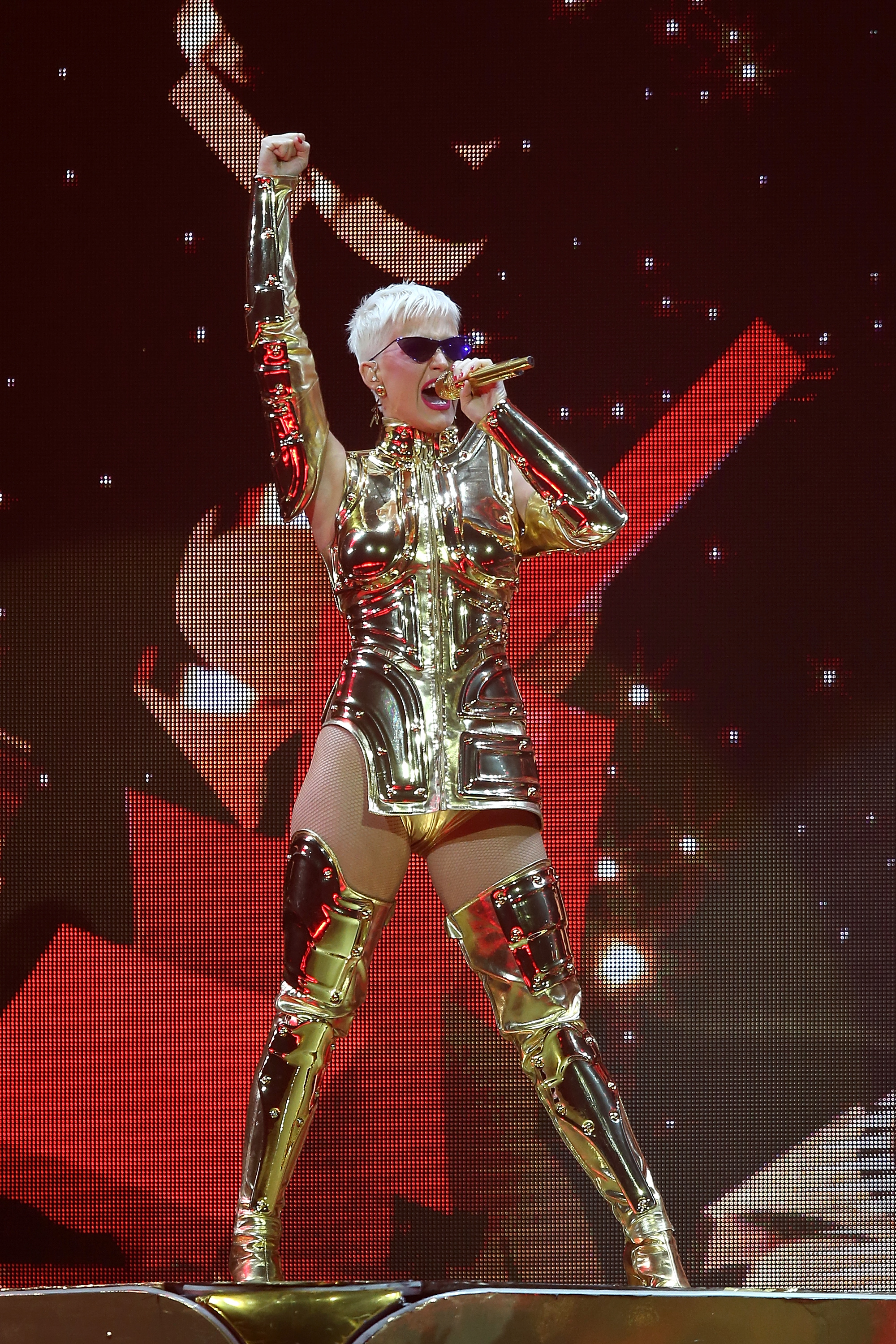 During her 'Witness' tour Katy Perry performs at Perth Arena on July 24, 2018 in Perth, Australia. (Photo by Paul Kane/Getty Images)