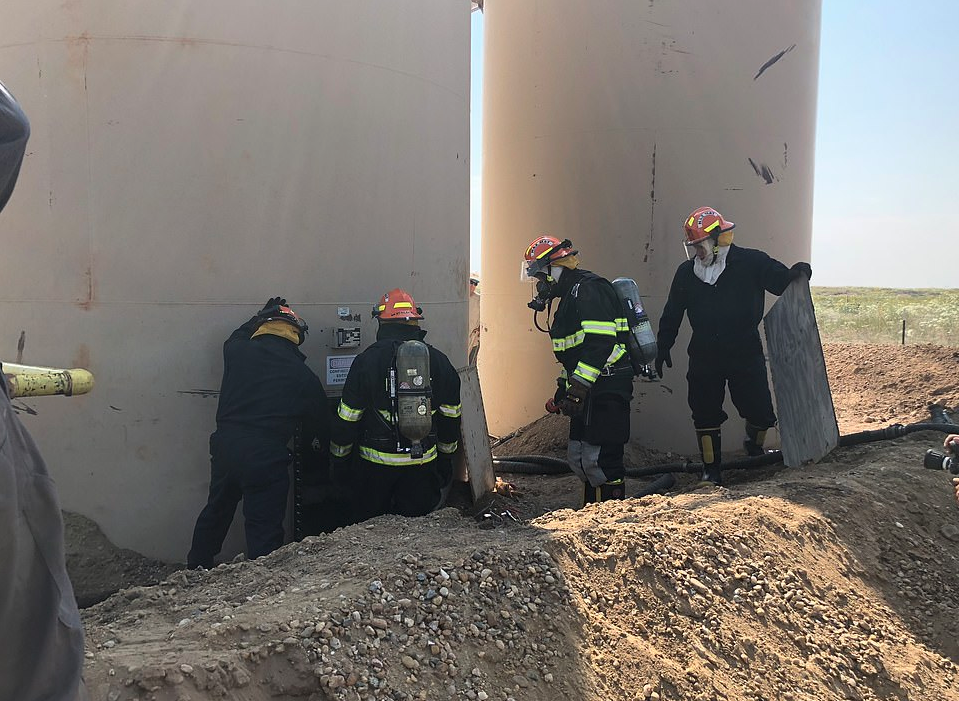 The process of removing the bodies of Bella and Celeste Watts from the oil drums where their father dumped them started at 5 a.m.and went on for fourteen hours (Source: Weld County DA)