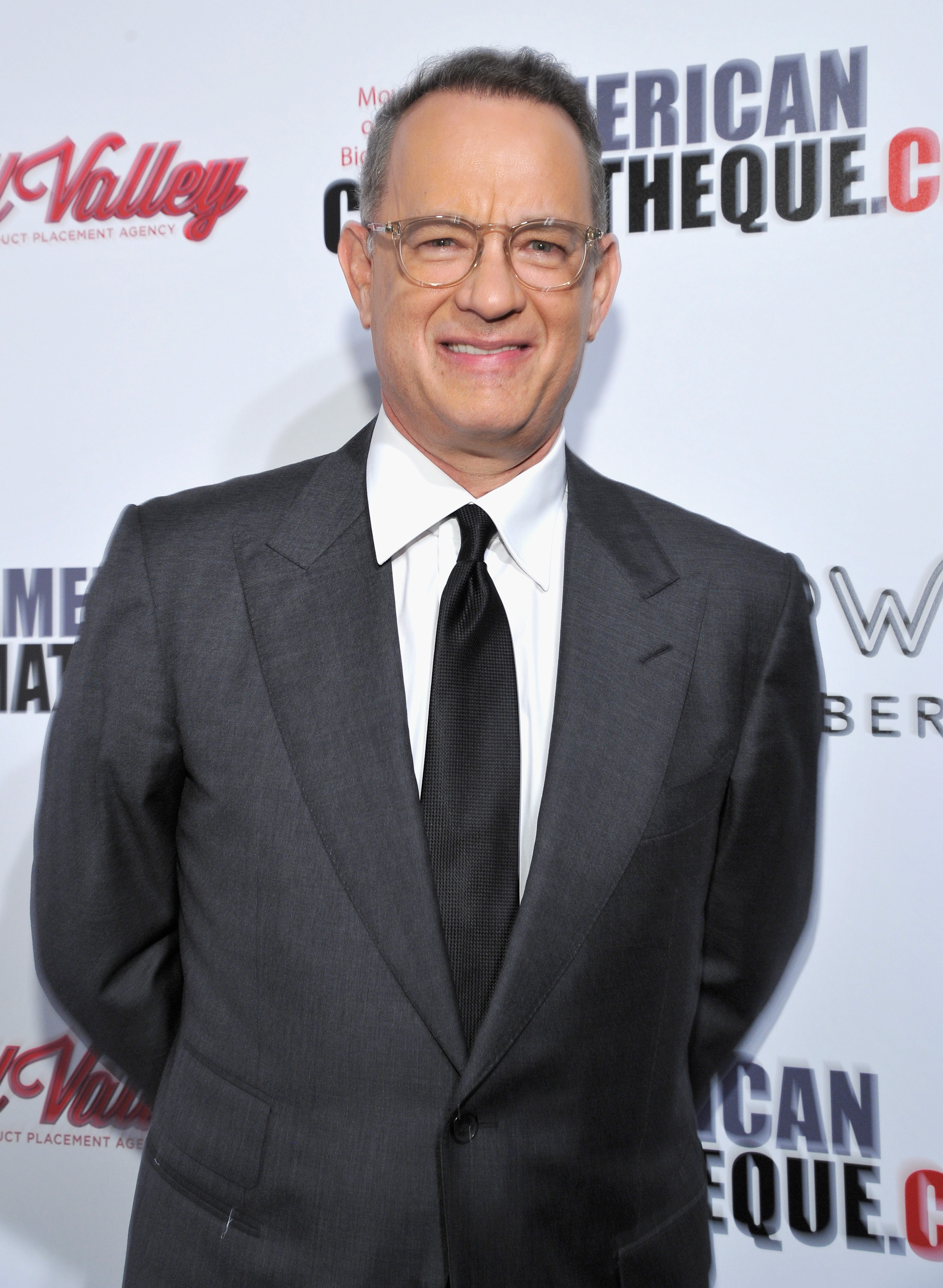 Tom Hanks attends the 31st American Cinematheque Award Presentation Honoring Amy Adams Presented by GRoW @ Annenberg. Presentation of The 3rd Annual Sid Grauman Award Sponsored by Hill Valley, presented to Richard Gelfond and Greg Foster on behalf of IMAX at The Beverly Hilton Hotel on November 10, 2017 in Beverly Hills, California.