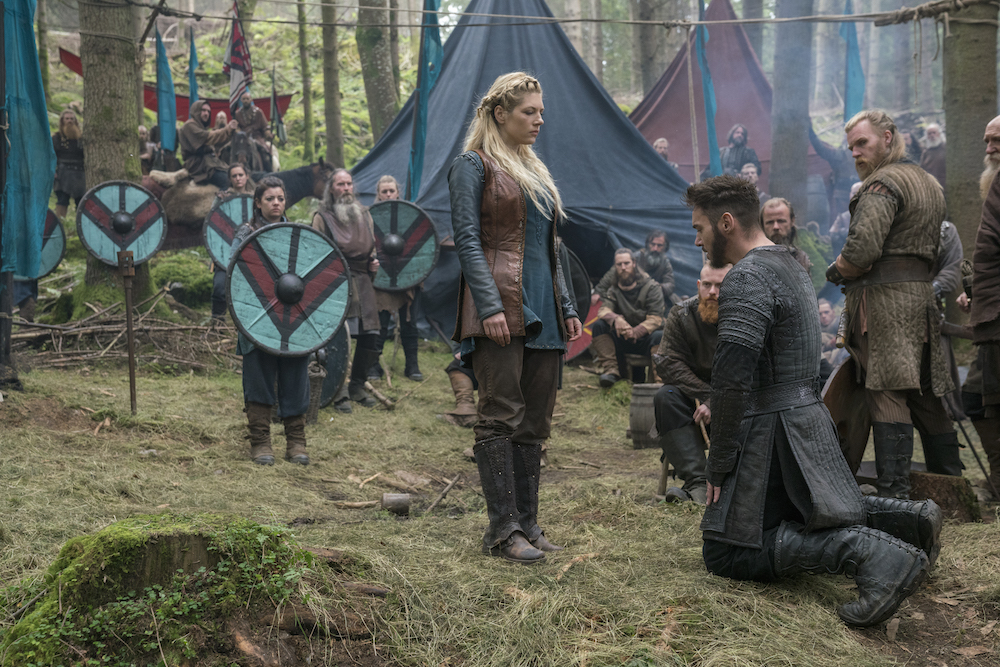 Lagertha and Bishop Heahmund (History Channel)