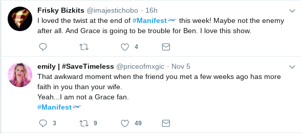 Fans are clearly not very big fans of Grace. (Twitter)
