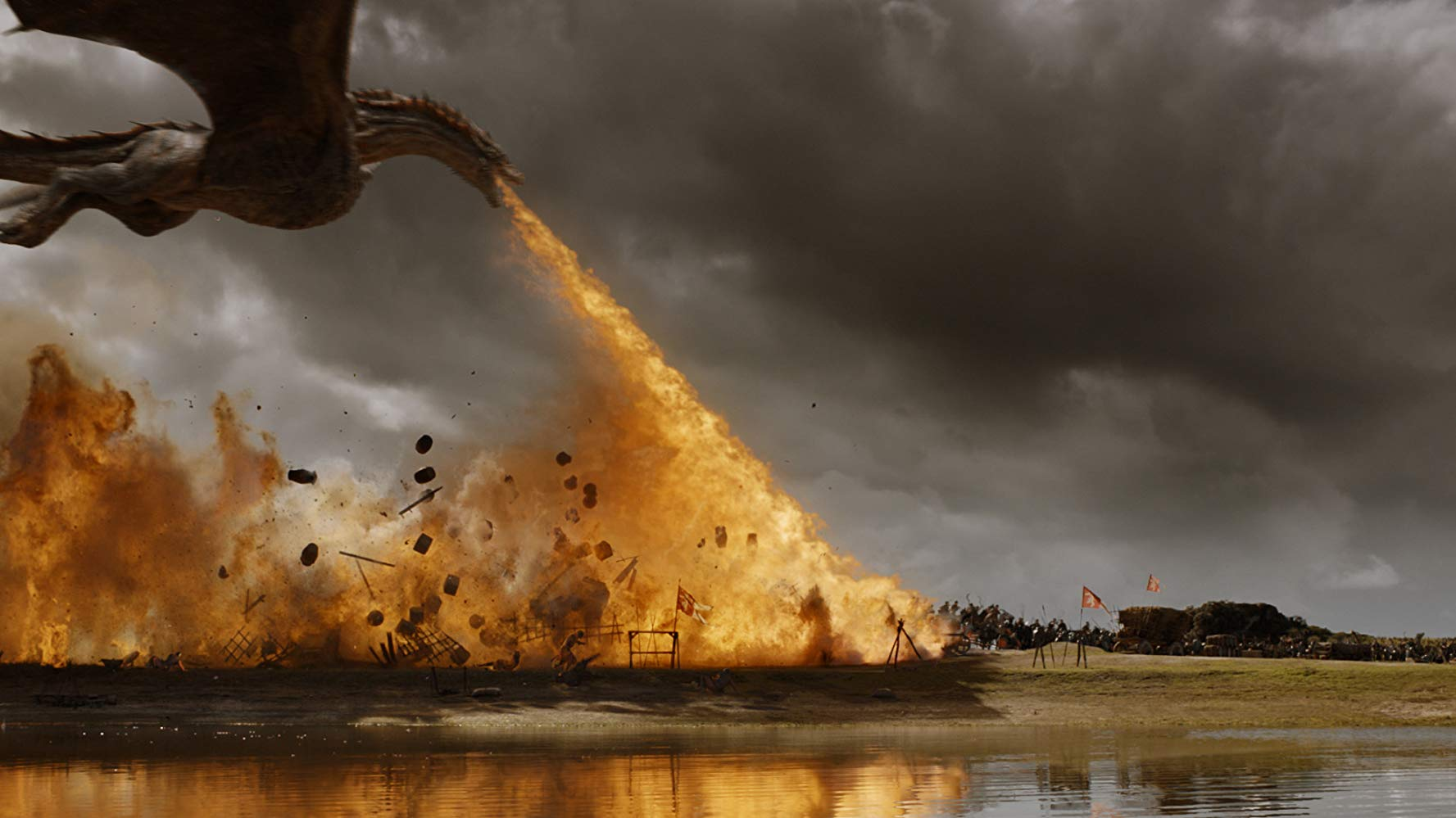 Drogon setting the battlefield ablaze in 'Game of Thrones'. Source: IMDB