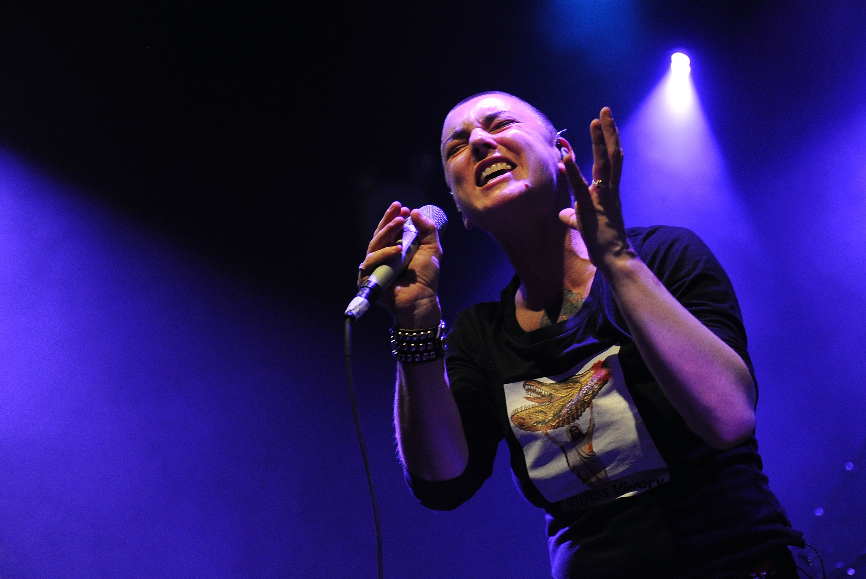Musician Sinead O'Connor performs at the Highline Ballroom on February 23, 2012 in New York City.