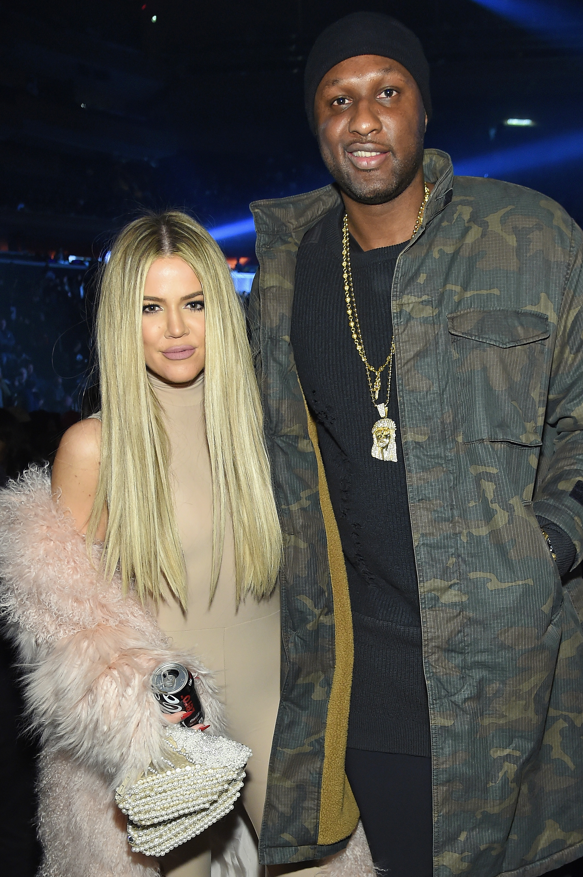 Khloe Kardashian and Lamar Odom attend Kanye West Yeezy Season 3 on February 11, 2016, in New York City. (Getty Images)
