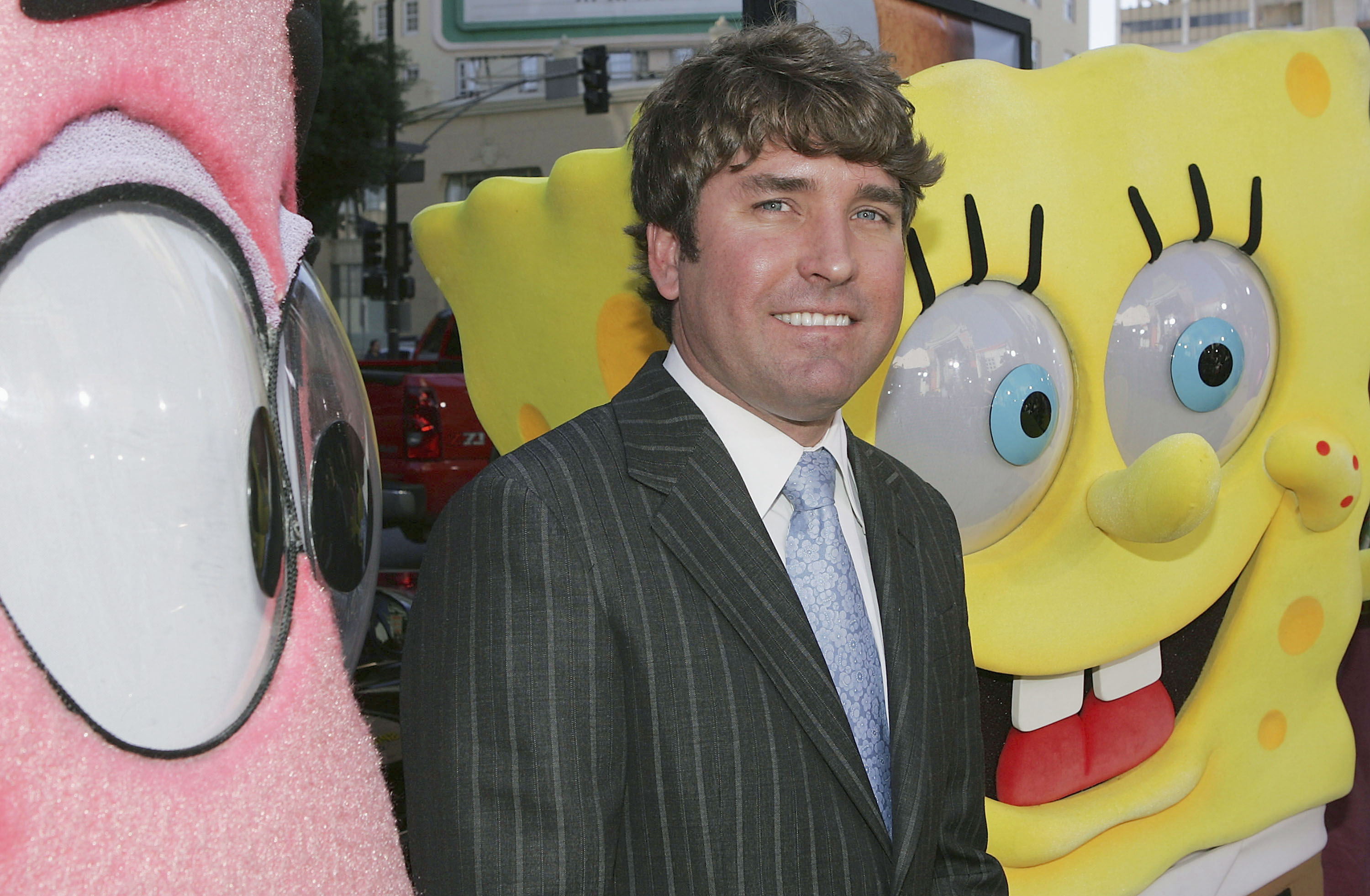 Director Stephen Hillenburg attends the film premiere of 'The Spongebob Squarepants Movie' at the Grauman's Chinese Theatre November 14, 2004 in Los Angeles, California.