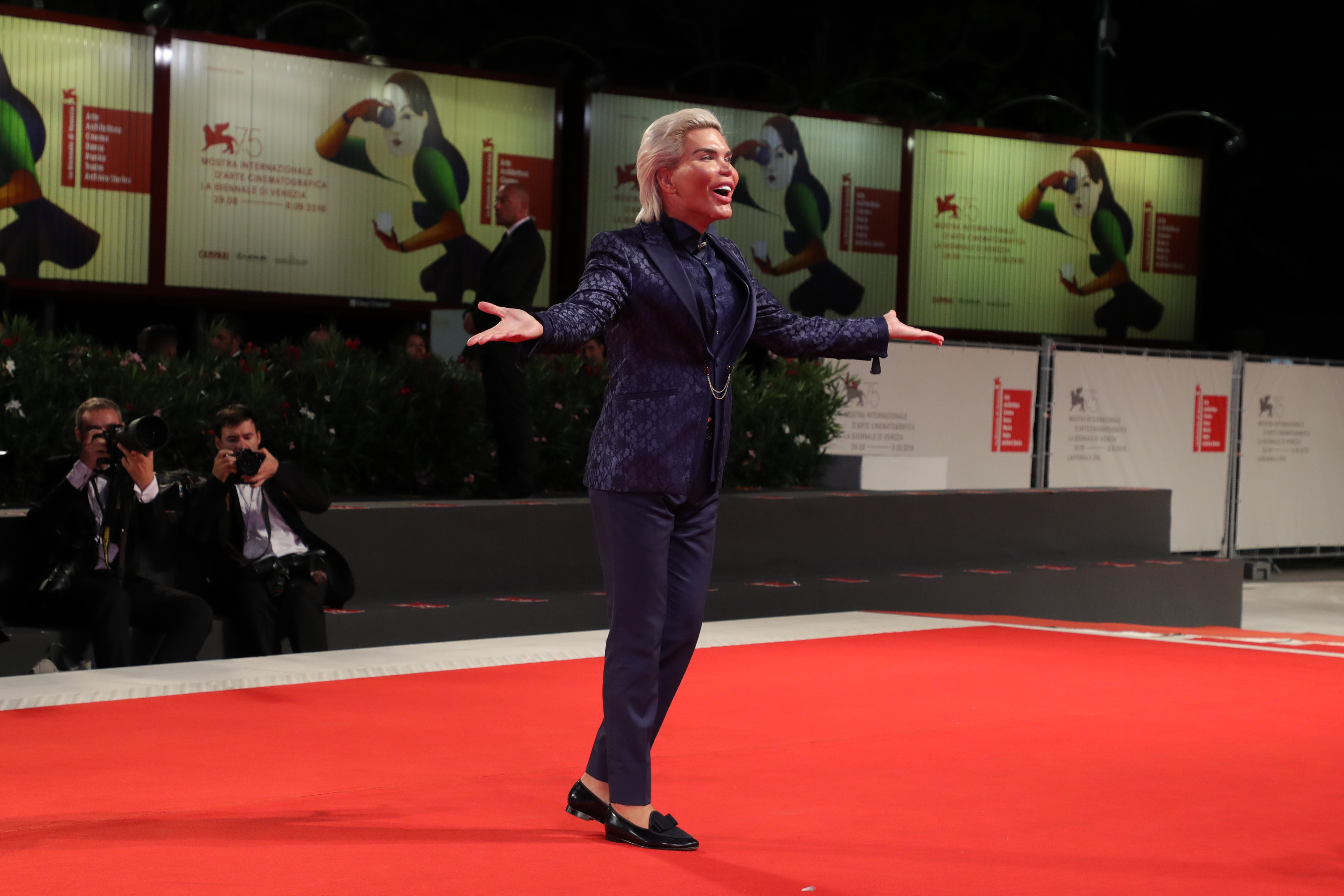 Rodrigo Alves walks the red carpet ahead of the Ying (Shadow) And 2018 Jaeger-LeCoultre Glory To The Filmmaker Award to Zhang Yimou during the 75th Venice Film Festival at Sala Grande on September 6, 2018, in Venice, Italy. (Getty Images)