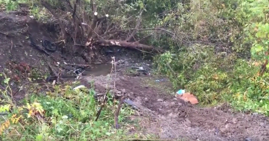 The site of the crash (Source: YouTube)