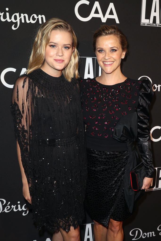 Ava Elizabeth Phillippe (L) and Reese Witherspoon attend L.A. Dance Project's Annual Gala at Hauser & Wirth on October 20, 2018 in Los Angeles, California. (Photo by Frederick M. Brown/Getty Images)
