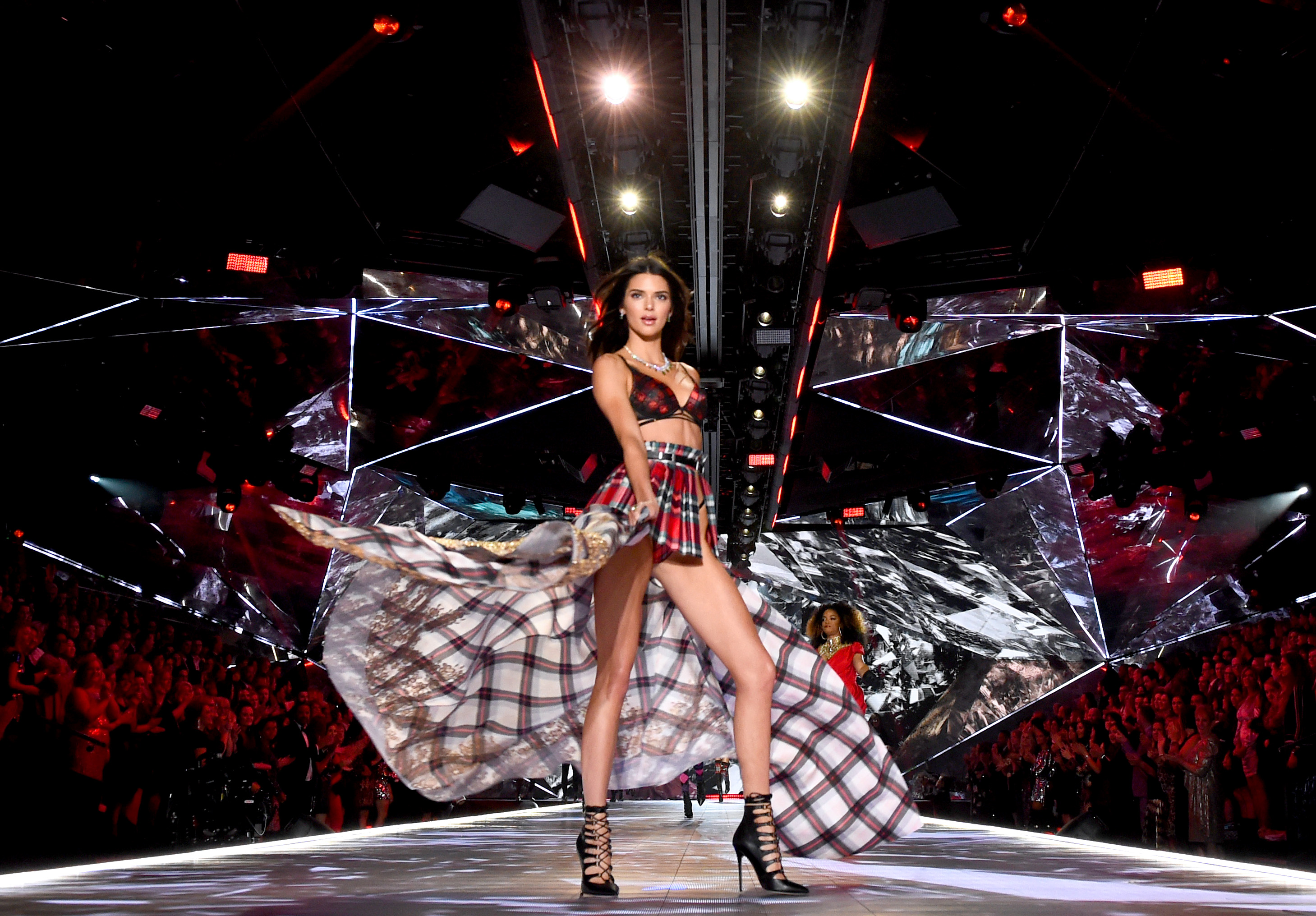 Kendall Jenner walks the runway during the 2018 Victoria's Secret Fashion Show at Pier 94 on November 8, 2018, in New York City. (Getty Images)