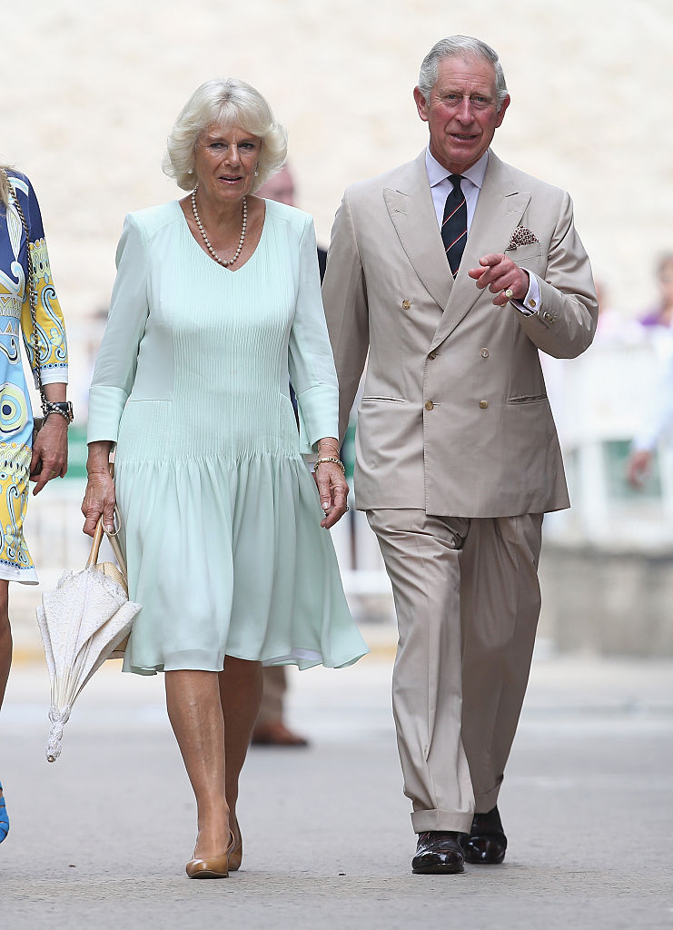 Camilla, Duchess of Cornwall and Prince Charles, Prince of Wales during a visit to the Museo del Oro Zenu on October 31, 2014 in Cartagena, Colombia. (Photo by Chris Jackson/Getty Images)